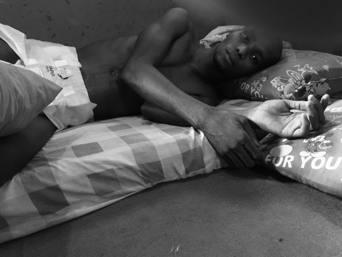 PARALYSED: A Lagos Policeman's Bullet Hit Him in the Stomach and Pierced  through His Backbone