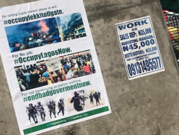 PHOTOS: #OccupyLekkiTollGate Protest Flyers In Circulation Despite Government Opposition