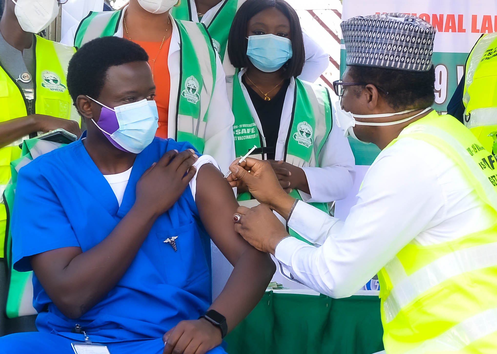 How the Public are Being Discouraged from Taking COVID-19 Vaccines at Sangotedo Centre