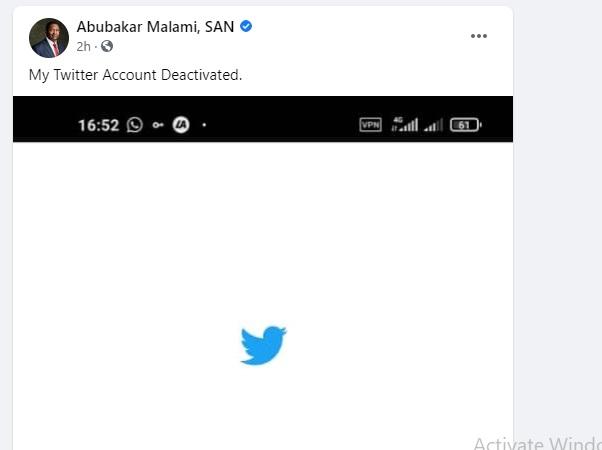 JUST IN: Malami Violates Nigerian Govt's Twitter Ban