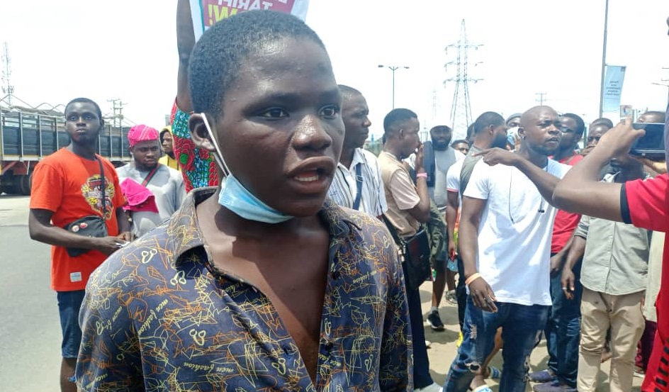 Real Story of the 18-Year-Old Protester Labelled a 'Miscreant' by Lagos CP