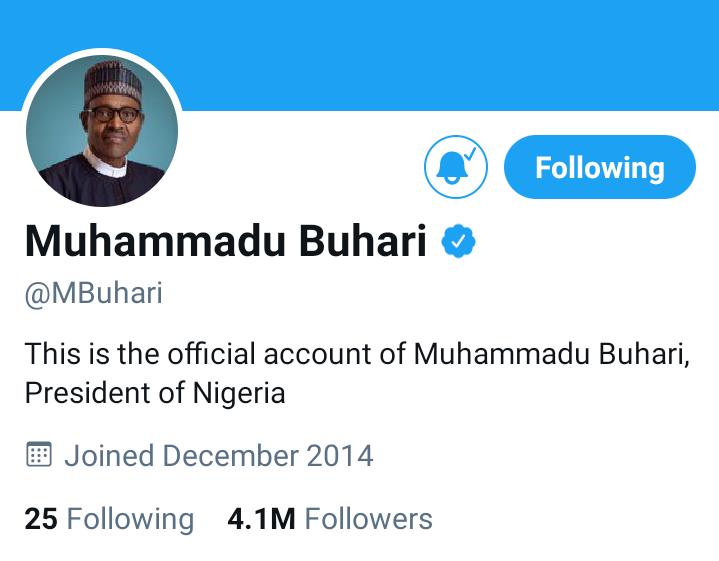 Buhari's Twitter Account Still Alive Despite FG's Ban, AGF's Arrest Order