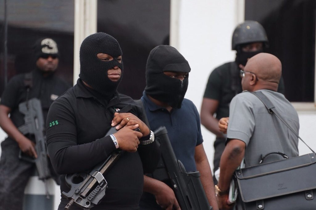 Hooded DSS Officials Take Over Gani Fawehinmi Park