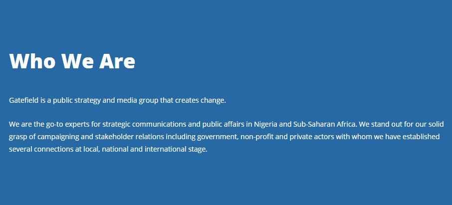 READ: Gatefield's Brief but Piercing Condemnation of Nigeria's Twitter Ban