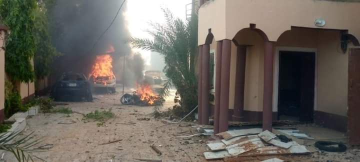 PHOTOS: Sokoto Youths Set Commissioner's House Ablaze for Shielding Fleeing Bandits