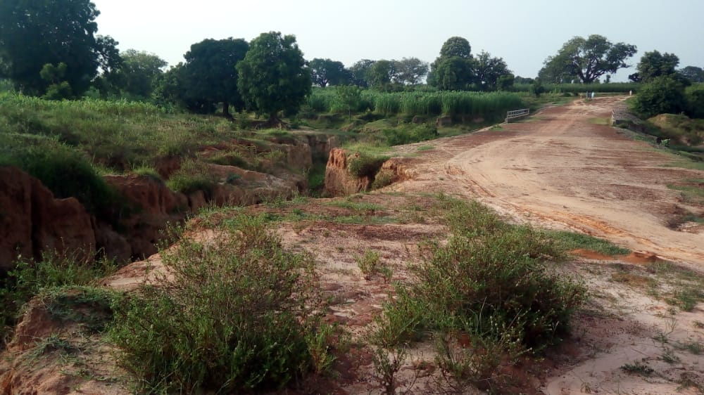 PHOTOS: Massive Gully Threatens Villagers' Lives in Kano