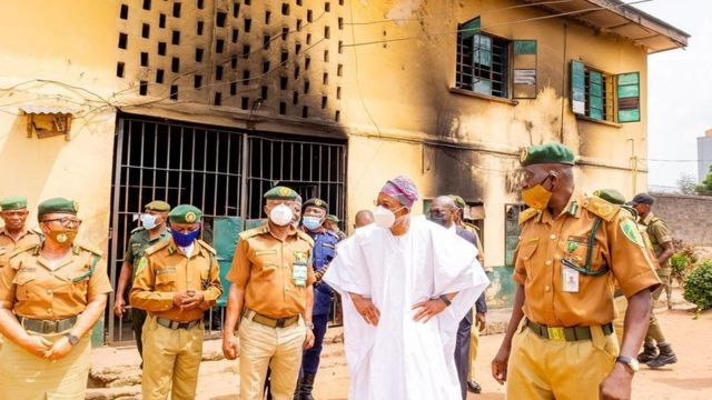 Oyo Prison Attackers Broke Fence With Grenades, Killed Amotekun Officer
